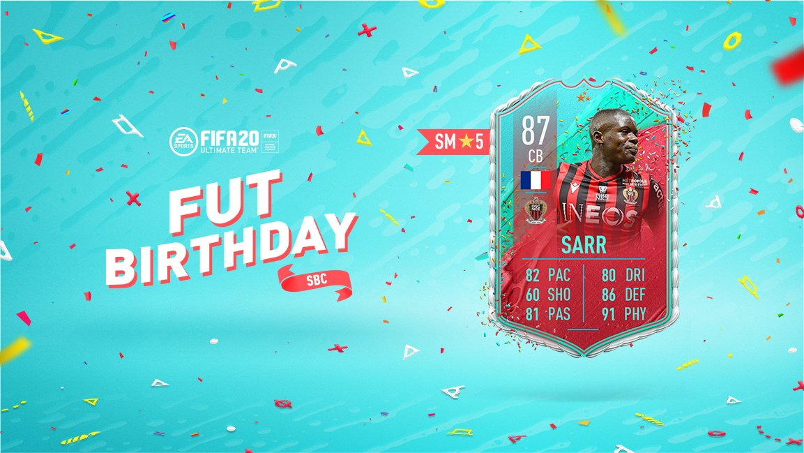 How To Complete Fifa 20 Malang Sarr Fut Birthday Sbc Solutions Cost Is He Worth It Gaming Frog