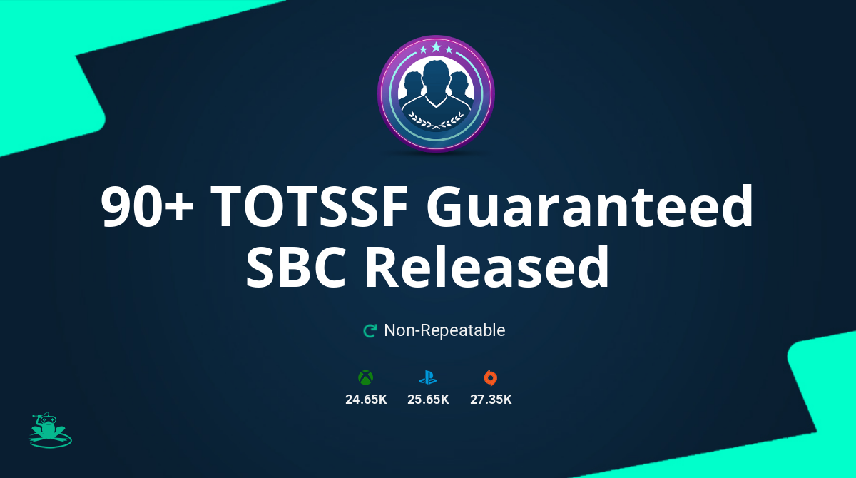 FIFA 20 90+ TOTSSF Guaranteed SBC Requirements & Rewards