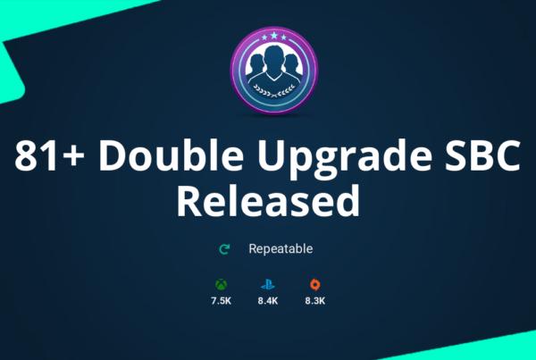 FIFA 20 81+ Double Upgrade SBC Requirements & Rewards