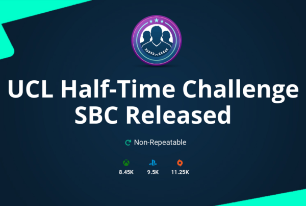 FIFA 20 UCL Half-Time Challenge SBC Requirements & Rewards
