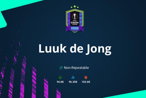 FIFA 20 Luuk de Jong SBC Requirements & Rewards