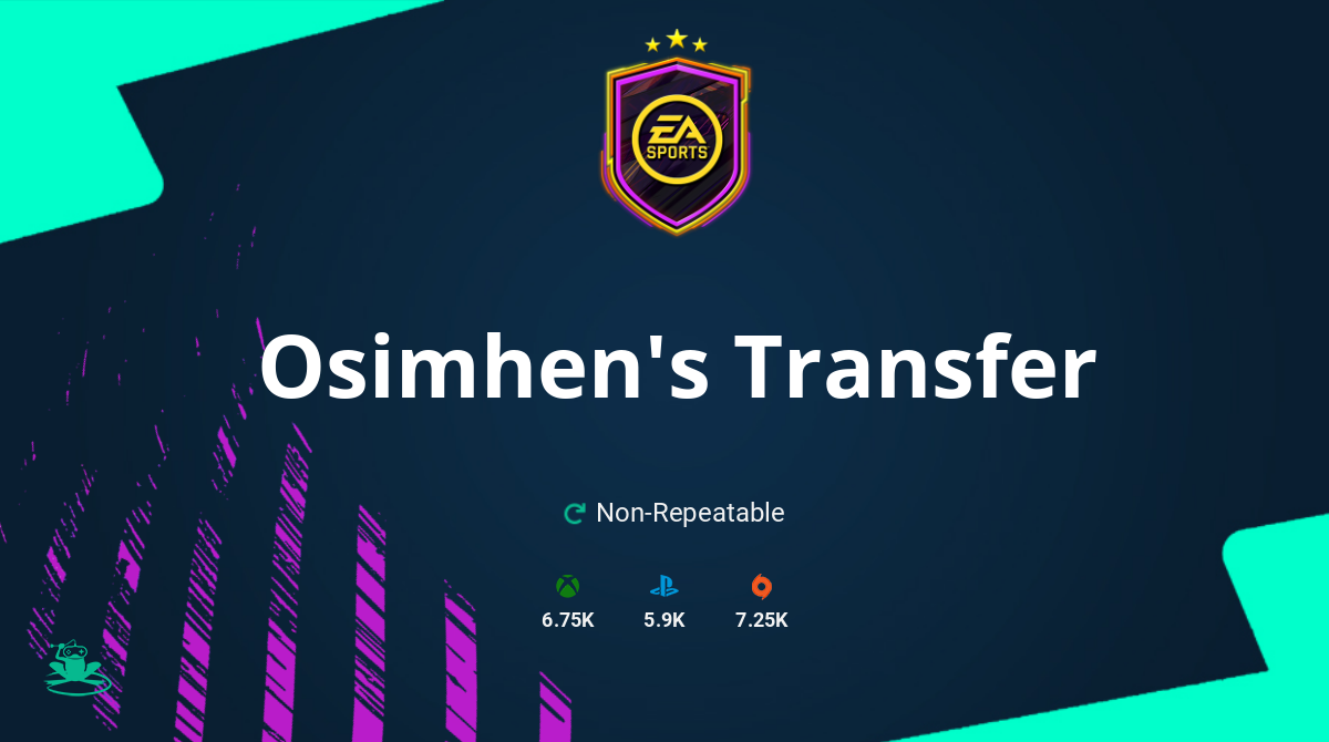 FIFA 21 Osimhen's Transfer SBC Requirements & Rewards