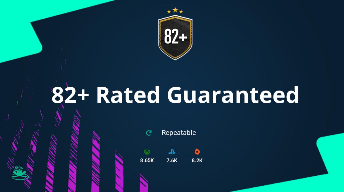 FIFA 21 82+ Rated Guaranteed SBC Requirements & Rewards
