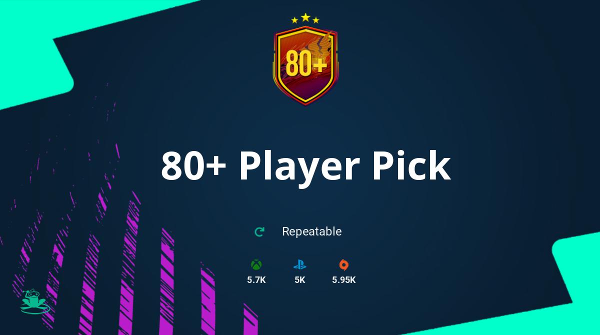 FIFA 21 80+ Player Pick SBC Requirements & Rewards