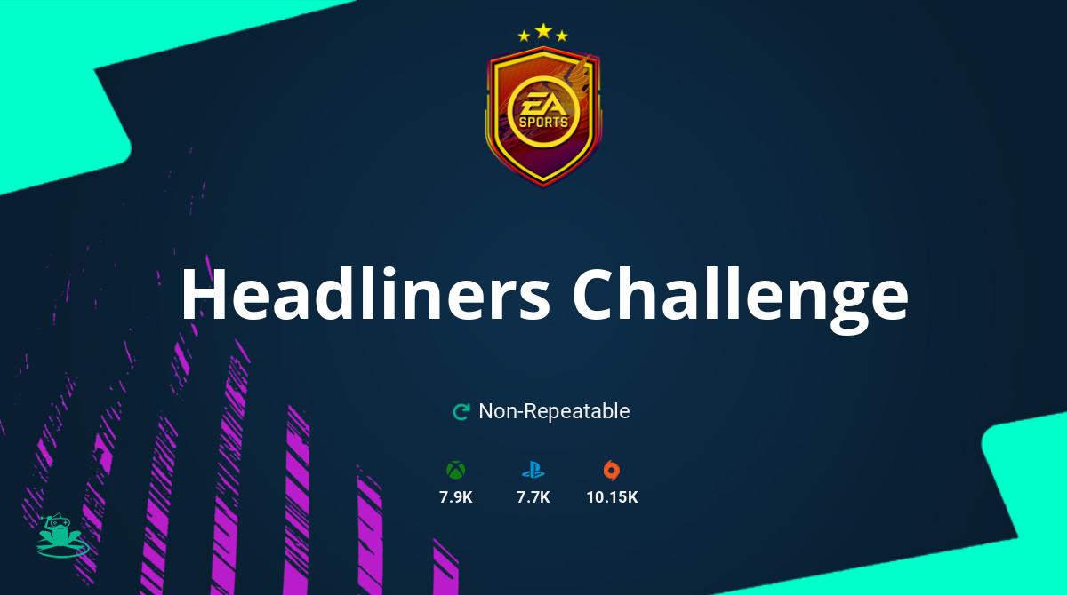 FIFA 21 Headliners Challenge SBC Requirements & Rewards