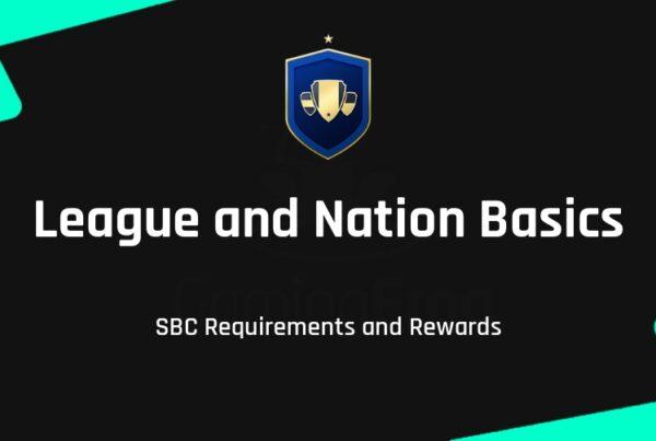 FIFA 22 League and Nation Basics SBC Requirements & Rewards
