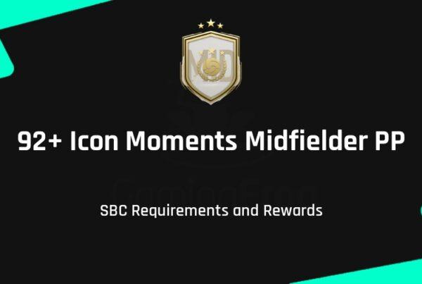 FIFA 21 92+ Icon Moments Midfielder PP SBC Requirements & Rewards