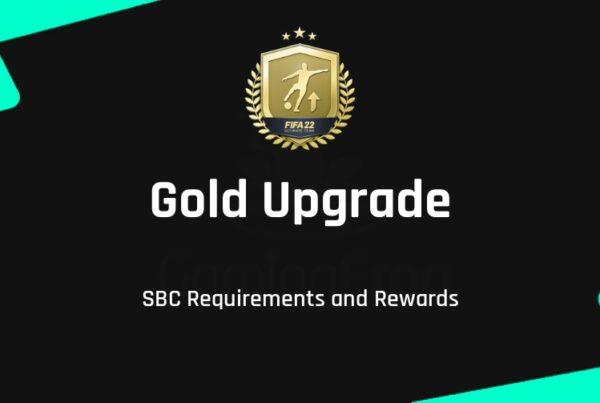 FIFA 22 Gold Upgrade SBC Requirements & Rewards