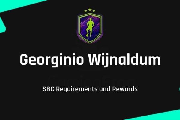 FIFA 22 Georginio Wijnaldum SBC Requirements & Rewards
